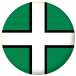 Devon County Flag 58mm Button Badge